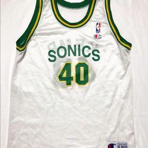 Vintage champion Sonics jersey